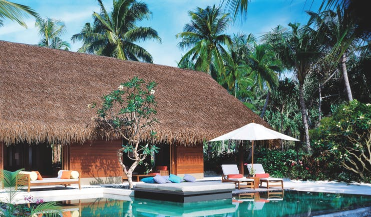One Only Reethi Rah Maldives grand beach villa exterior private terrace private pool