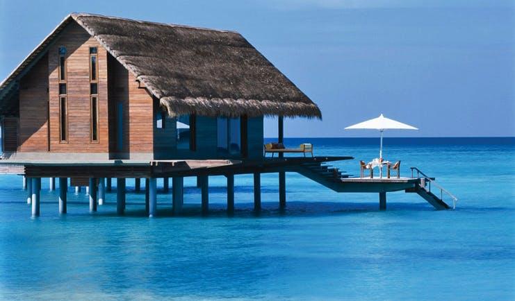 One Only Reethi Rah Maldives ocean villa exterior villa over sea