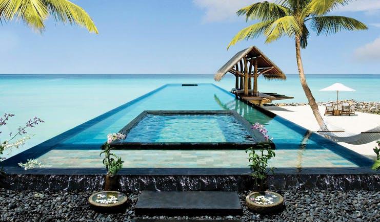 One Only Reethi Rah Maldives pool overlooking sea