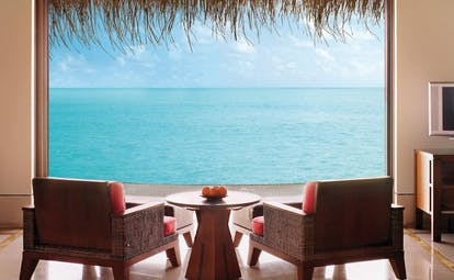 One Only Reethi Rah Maldives view over sea from water villa lounge