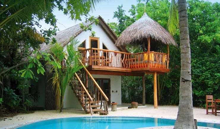 Soneva Fushi Maldives deluxe crusoe villa two storey private pool