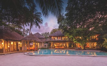 Soneva Fushi Maldives villa 14 exterior many living spaces private pool