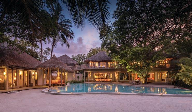 Soneva Fushi Maldives villa 14 exterior many living spaces private pool