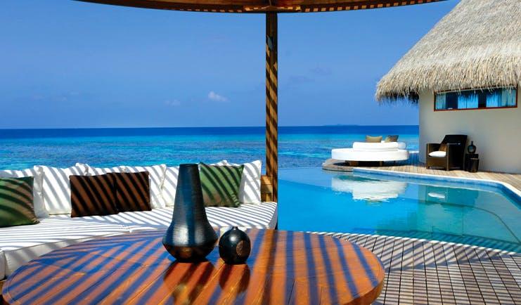 W Retreat Maldives ocean haven guest villa terrace cabana infinity pool overlooking sea