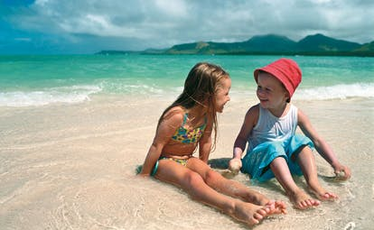 Anahita Mauritius children enjoying the beach