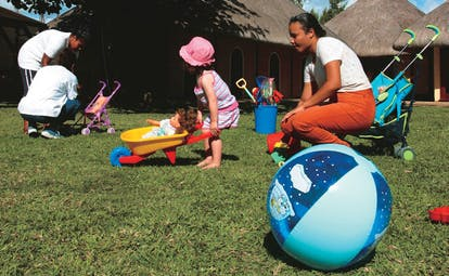 Constance Belle Mare Plage Mauritius kids' club children playing supervisors