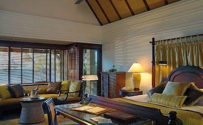 Constance Le Prince Maurice Mauritius princely villa bedroom bed sofa elegant decor