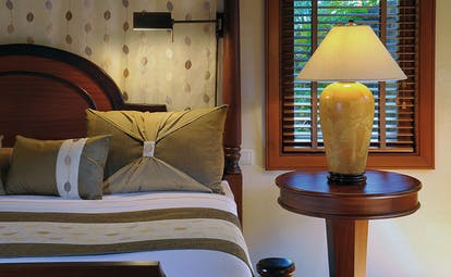 Constance Le Prince Maurice Mauritius suite bedroom bed modern décor private pool