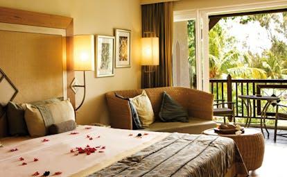Lux Grand Gaube Mauritius superior room bed sofa private terrace modern décor