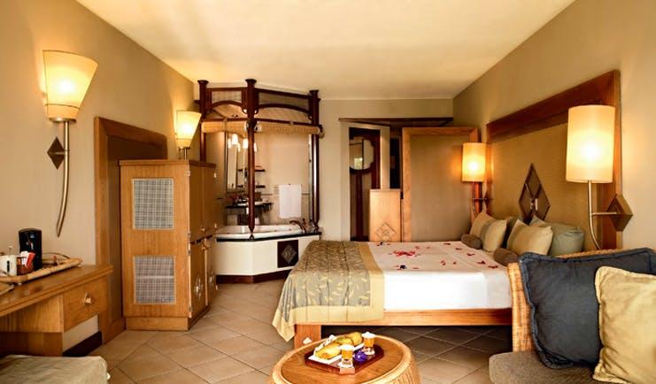 Lux Grand Gaube Mauritius superior guestroom bed sofa modern décor