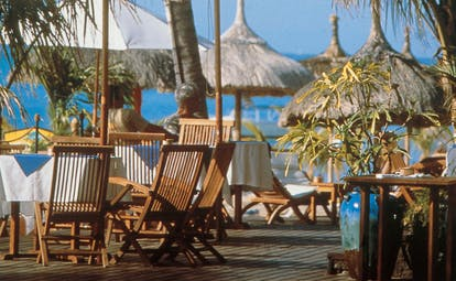 Lux Le Morne Mauritius dining terrace outdoor seating