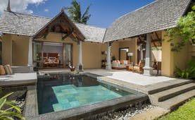 Luxury suite pool villa with outdoors pool and seating areas