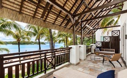 One bedroom suite terrace with view of ocean