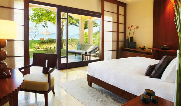 Shanti Maurice Mauritius junior bedroom minimalist decor patio sea view