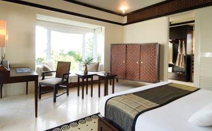 Banyan Tree Seychelles bedroom lounge area patio access