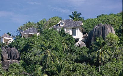 Banyan Tree Seychelles exterior villas nestled in the forests