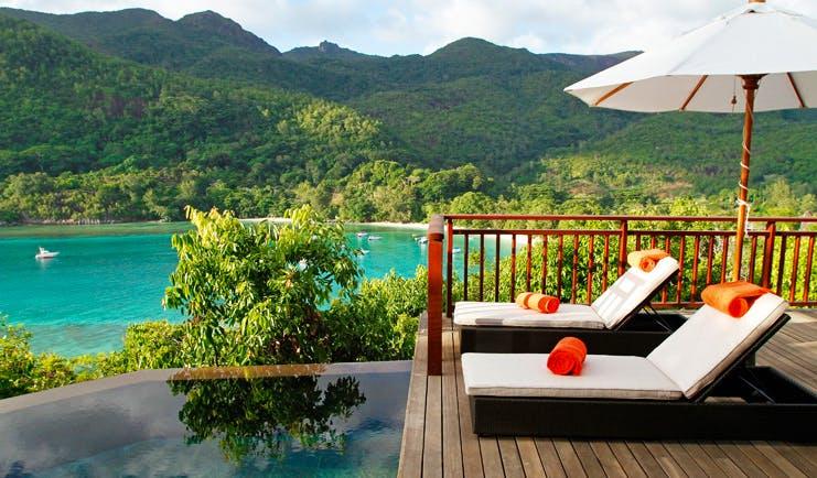 Constance Ephelia Resort Seychelles hillside villa deck infinity pool ocean view