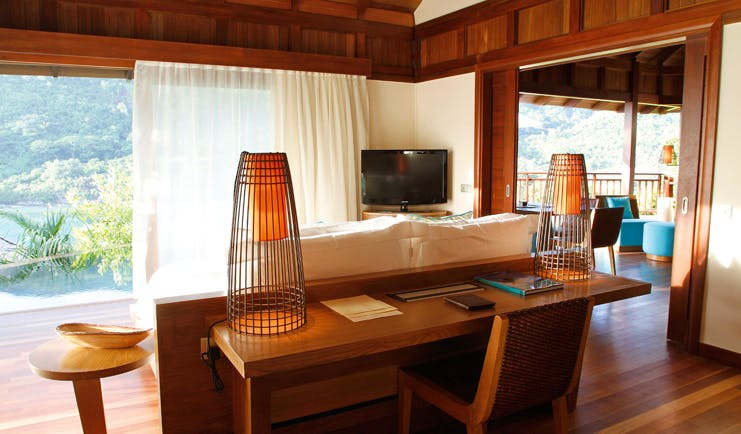 Constance Ephelia Resort Seychelles hillside villa view lounge modern decor sea view