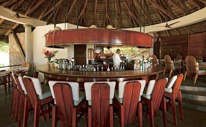 Constance Lemuria Seychelles bar area circular pavilion