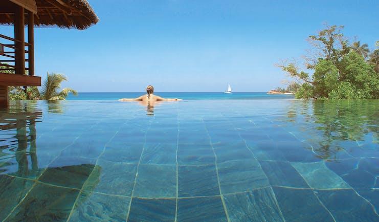 Constance Lemuria Seychelles infinity pool ocean view