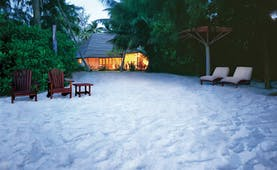 Denis Island Seychelles executive villa beach seating area
