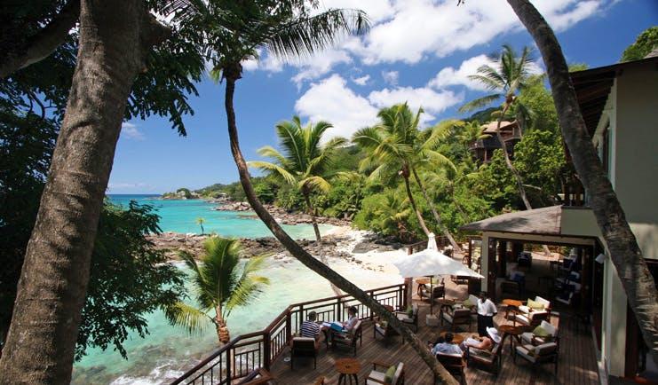 Hilton Northolme Seychelles ocean view bar terrace deck area beach view