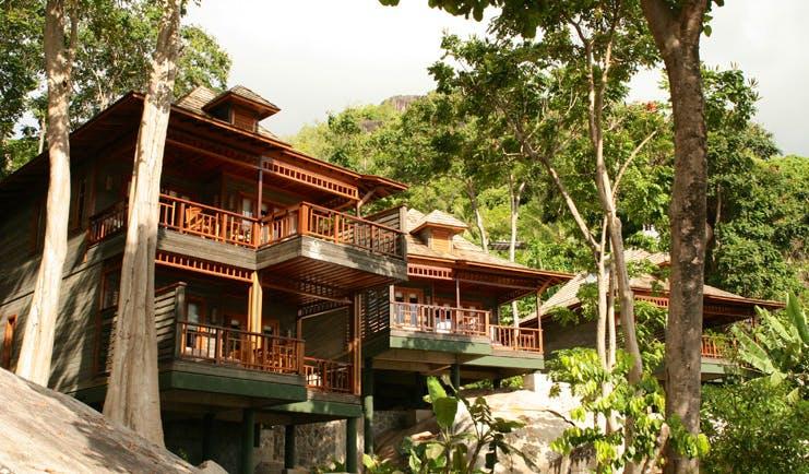Hilton Northolme Seychelles villa exterior balconies trees