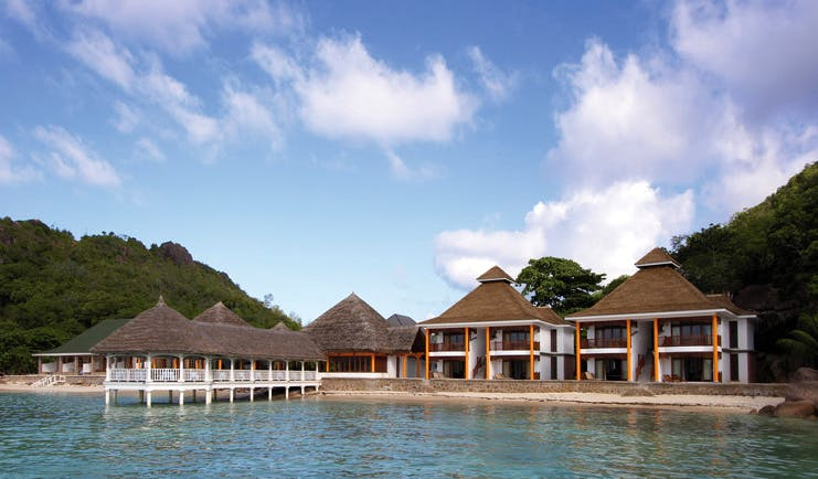 Domaine de la Reserve Seychelles exterior villas jetty beach