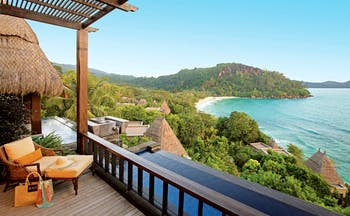 Maia Seychelles villa terrace private terrace private infinity pool overlooking ocean