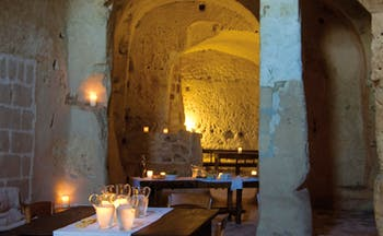 Sextantio Albergo Diffuso Abruzzo indoor dining area authentic architecture