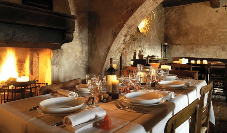 Sextantio Albergo Diffuso Abruzzo restaurant indoor dining area rustic décor