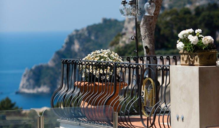 Casa Morgano Amalfi Coast balcony potted plant coastal views