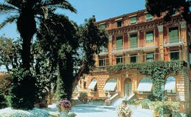 Grand Hotel Excelsior Vittoria Amalfi Coast exterior building pool grounds sea