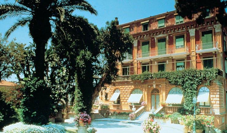Grand Hotel Excelsior Vittoria Amalfi Coast exterior building pool grounds sea