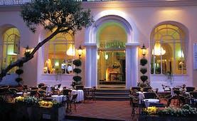 Hotel Quisisana Capri entrance patio outdoor seating area