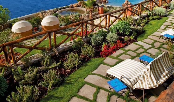 Monastero Santa Rosa Amalfi Coast infinity pool and gardens overlooking the sea