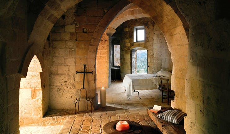 Sextantio Le Grotte Della Civita Basilicata cave bedroom authentic architecture