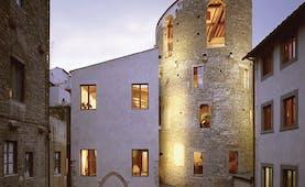 Hotel Brunelleschi Florence exterior lit up windows old architecture
