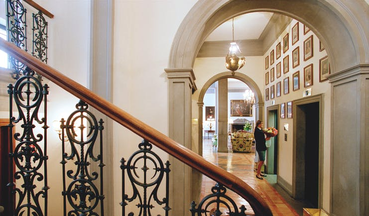 Helvetia and Bristol Florence interior stair case hall way elevators
