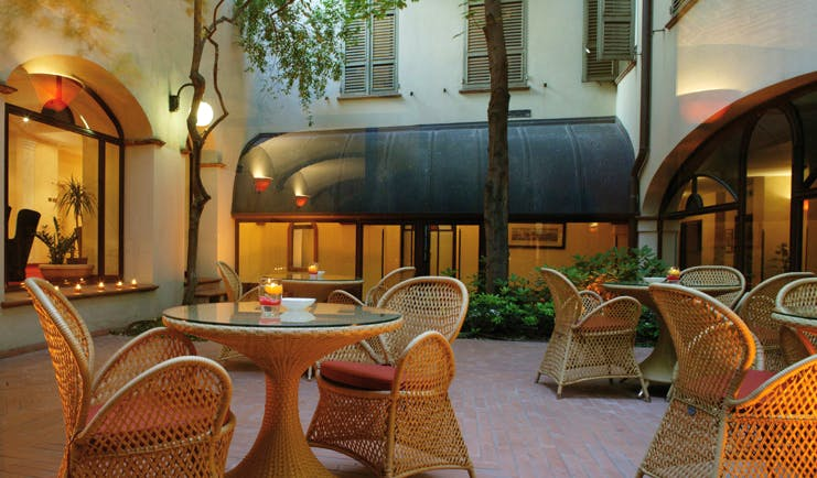 Palace Hotel Maria Luigia Parma patio outdoor dining area