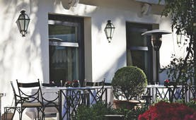 Aldrovandi Villa Borghese Rome patio outdoor dining