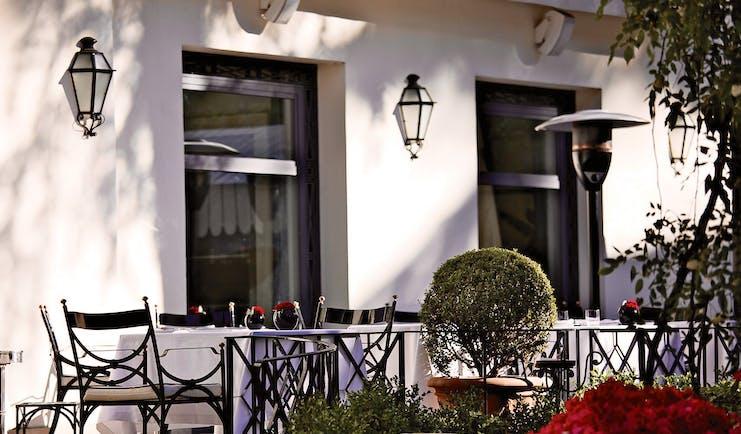 Aldrovandi Villa Borghese Rome patio outdoor dining