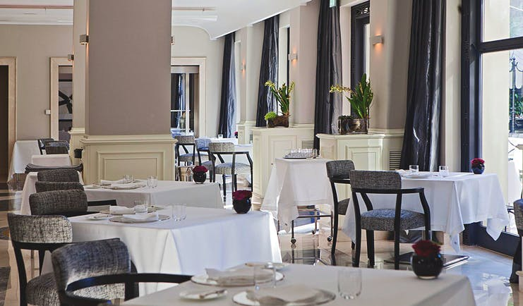 Aldrovandi Villa Borghese Rome restaurant indoor dining