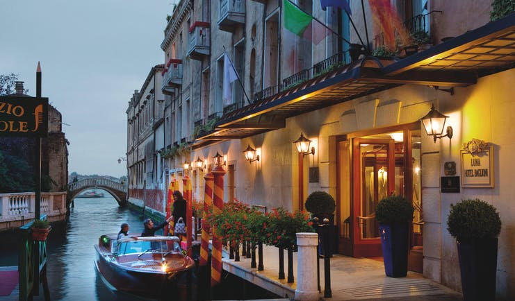 Baglioni Hotel Luna Venice exterior canal side boat on canal
