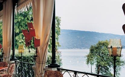 Villa Feltrinelli Lake Garda view of lake Garda from hotel