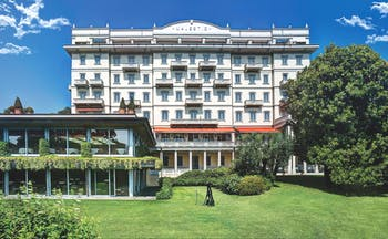 Grand Hotel Majestic Lake Maggiore hotel exterior building lawns greenery