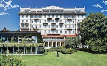 Grand Hotel Majestic Lake Maggiore hotel exterior building lawns greenery