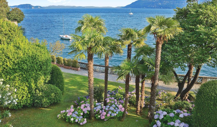 Grand Hotel Majestic Lake Maggiore gardens lawns trees overlooking Lake Maggiore