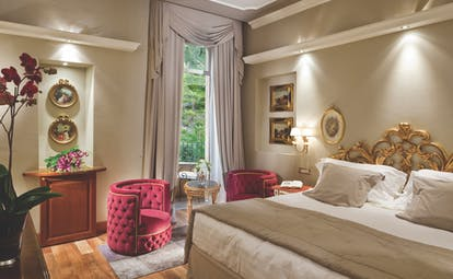 Grand Hotel Tremezzo Lake Como park view prestige room elegant décor balcony overlooking the park