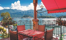 Grand Hotel Tremezzo Lake Como t bar outdoor dining overlooking lake